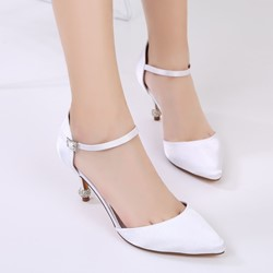 Shoespie Wedding Pointed ToeLine-Style Buckle Stiletto Heel Dress Sandals