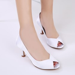 Shoespie Silk Fabric Peep Toe Wedding Stiletto Heel Dress Sandals