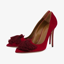 Shoespie Tassels Pointed Toe Stiletto Heel