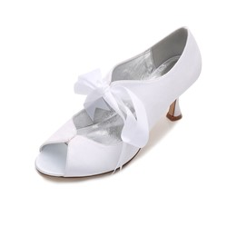 Shoespie Silk Fabric Wedding Lace-Up Hollow Low-Cut Upper Stiletto Heel Peep Toe Sandals