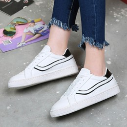 Shoespie Platform Thread Lace-Up Sneaker