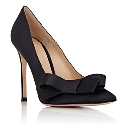 Shoespie Black Classy Bowtie Pointed Toe Stiletto Heels