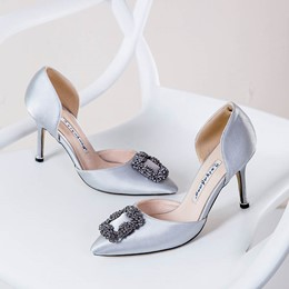 Shoespie Silk Fabric Banquet Rhinestone Wedding Stiletto Heel Sandals