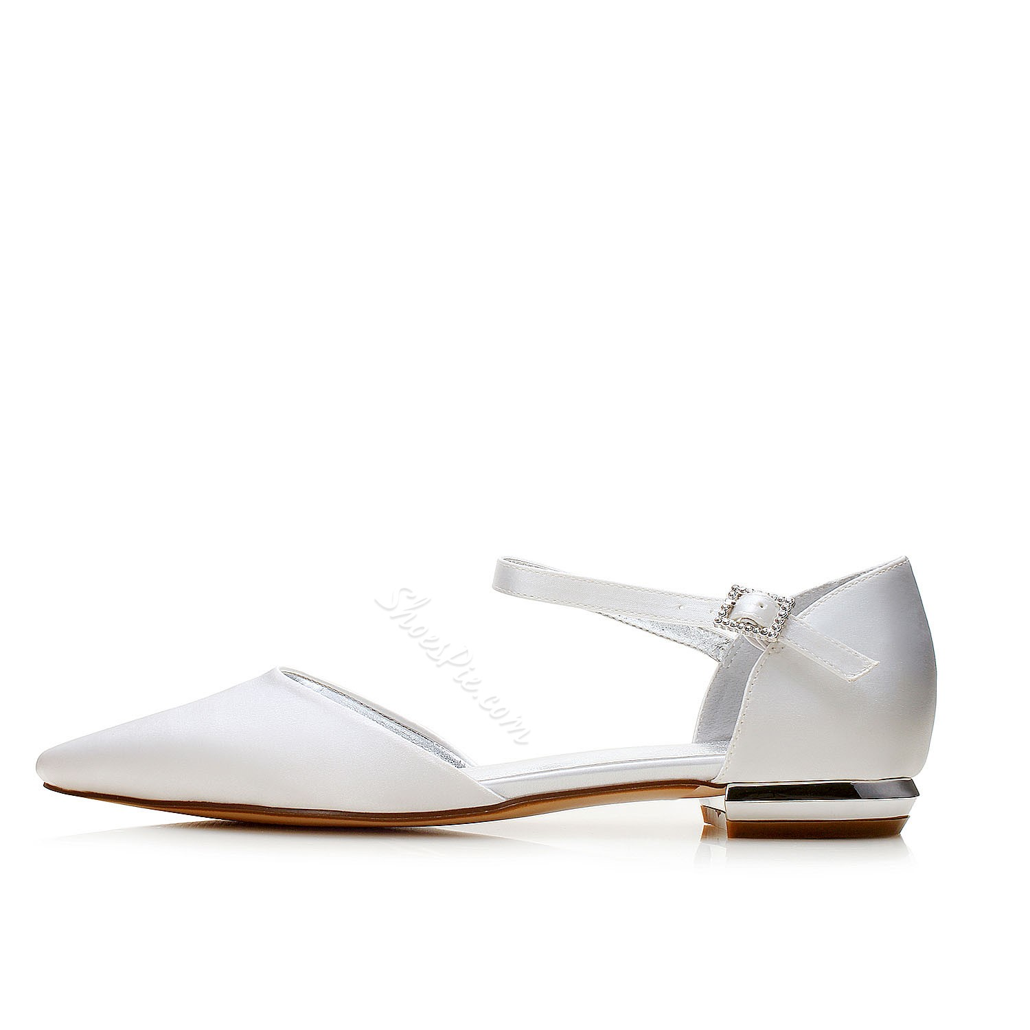Shoespie Pointed Toe Wedding Line-Style Buckle Dress Sandals