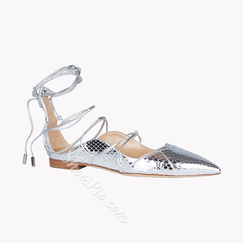 Shoespie Casual ,Summer Pointed Toe Lace-Up Dress Flat Sandals