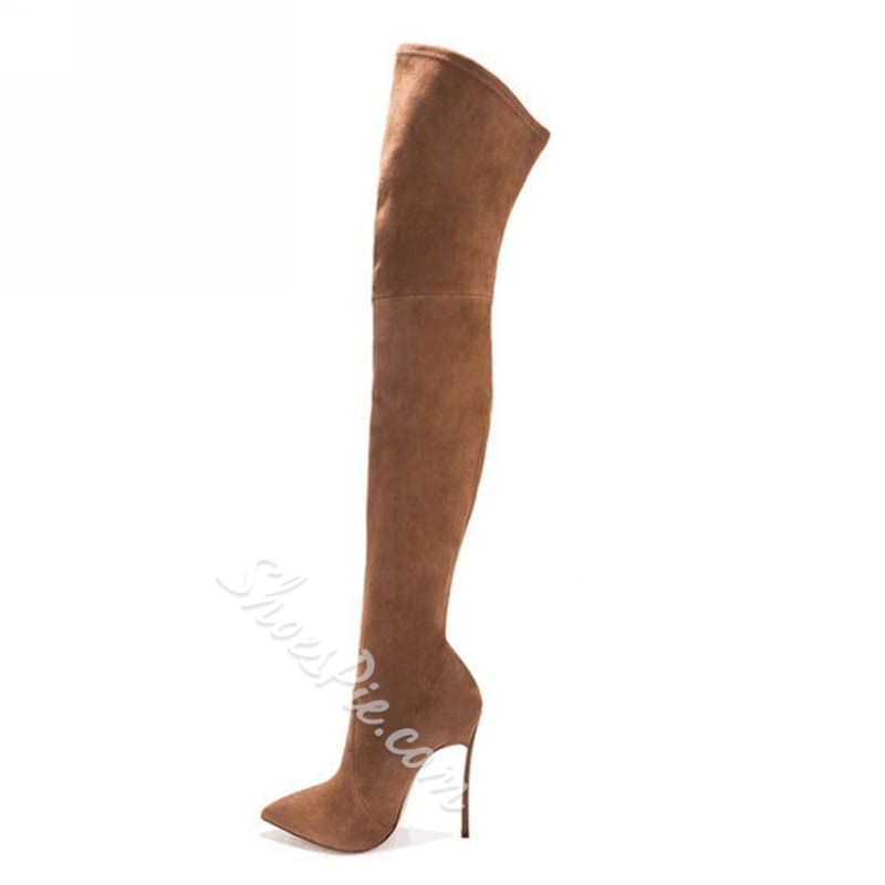 Shoespie Fashion Pointed Toe Knee High Boots