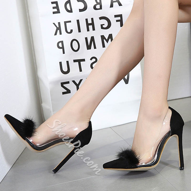 Shoespie Pointed Toe Black Stiletto Heels