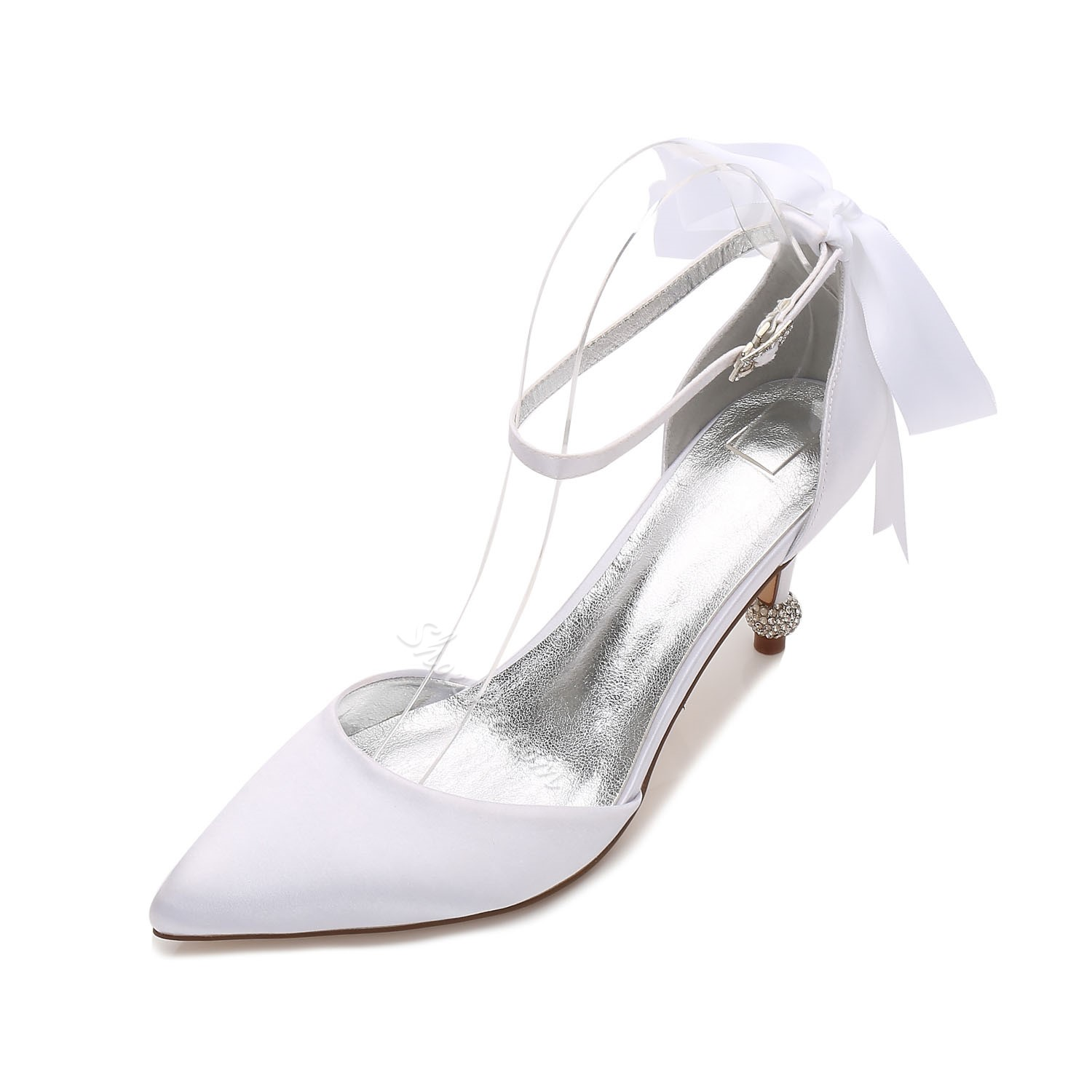 Shoespie Bow Line-Style Buckle Bridal Shoes