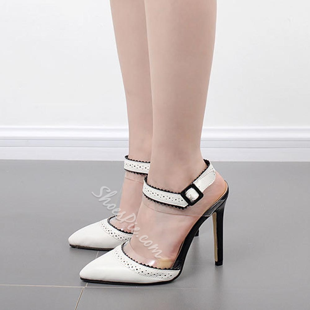 Shoespie Ankle Strap Pointed-toe Stiletto Heels