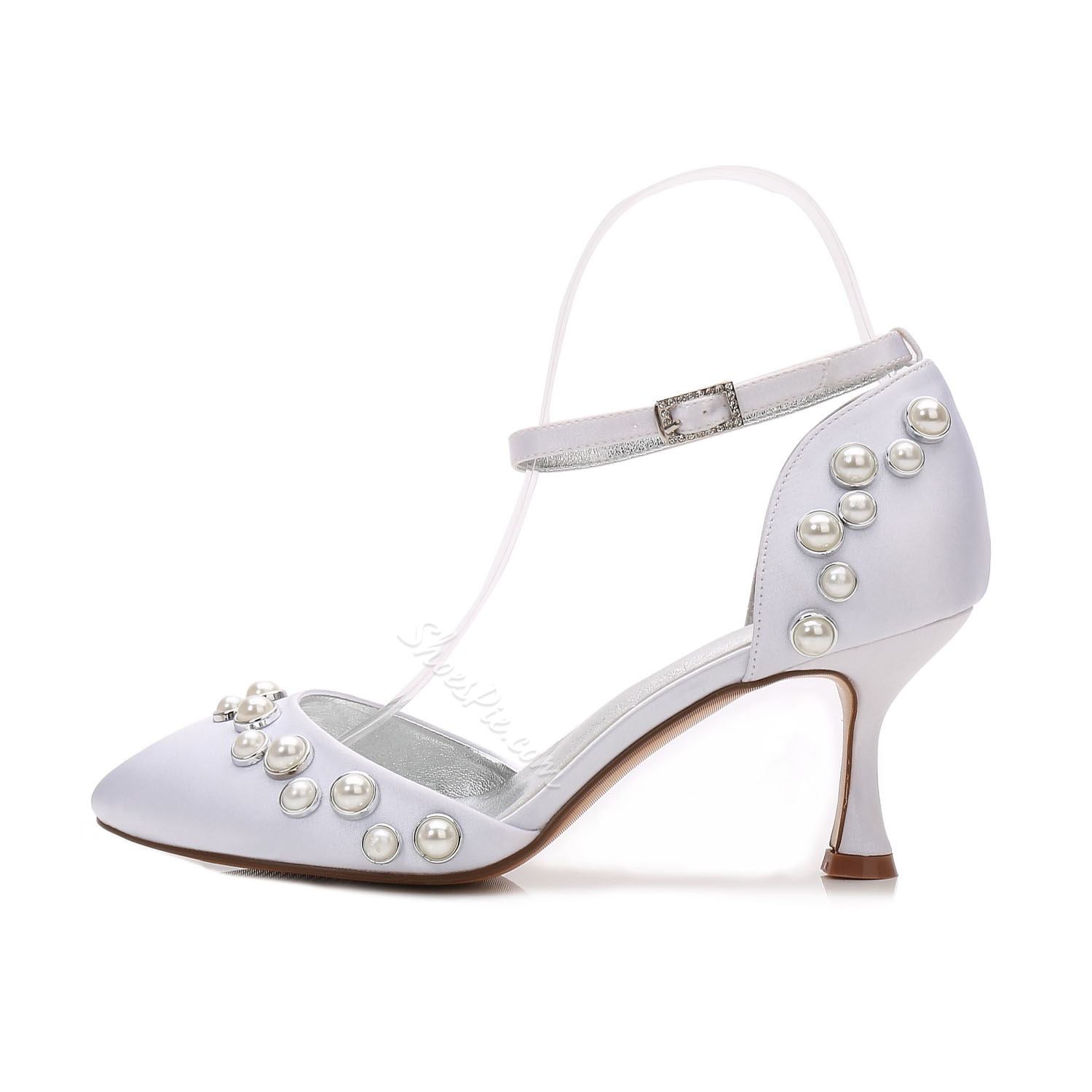 Shoespie Round Toe Line-Style Buckle Bridal Shoes