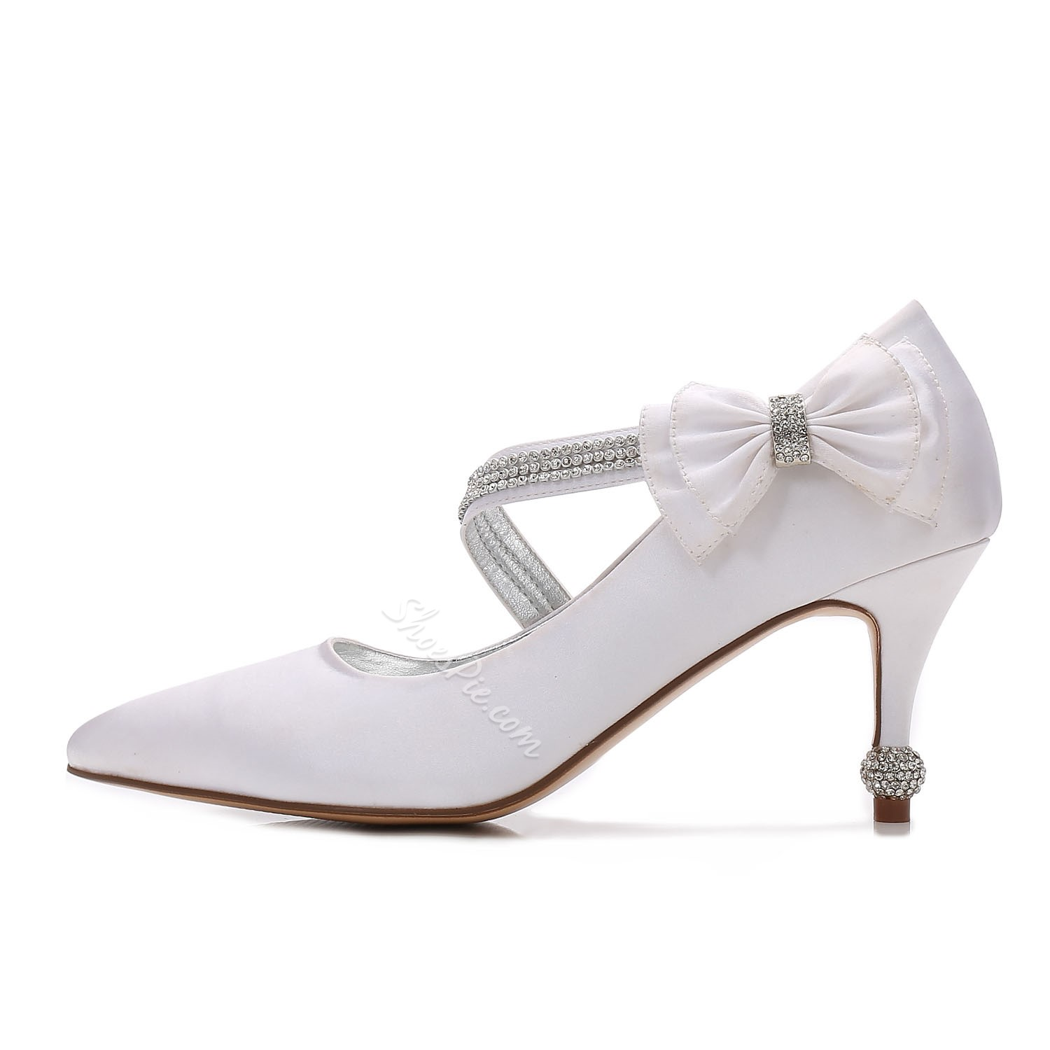 Shoespie Bow Rhinestone Bridal Shoes