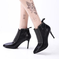 Shosepie Pointed Toe Thread Fashion Ankle Boots