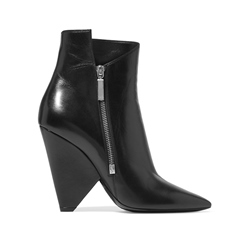 Shoespie Side Zipper Cone Heel Pointed Toe High Heels Boot