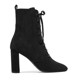 ShoespieLace-Up Front Chunky Heel Ankle Boot