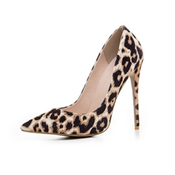 Shoespie Leopard Print Pointed Toe Stiletto Heels