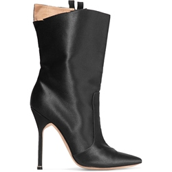 Shoespie Pointed Toe Stiletto Heel Side Zipper High Heels Boot