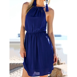 Shoespie Plain Sleeveless Above Knee Bodycon Dress