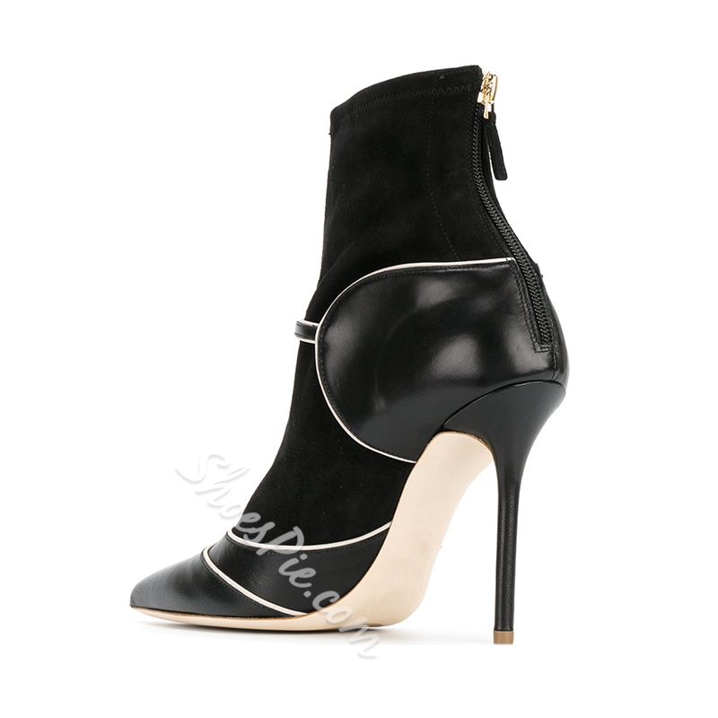 Shoespie Patchwork Sexy Stiletto Heel Fashion Boots