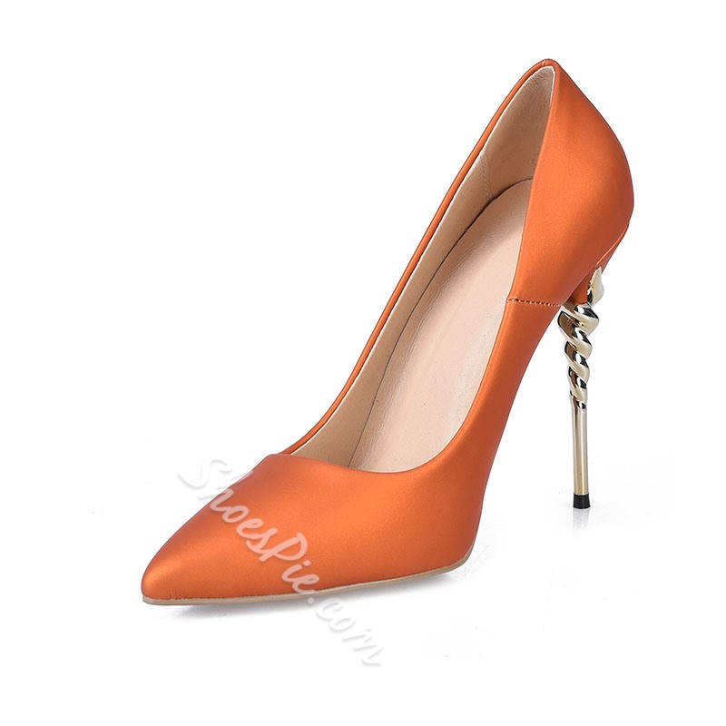 Shoespie Luxurious Pointed Toe Shallow Stiletto Heels