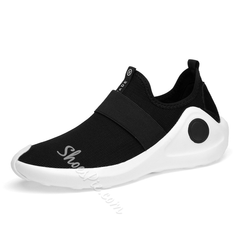 Shoespie Casual Mesh Color Block Slip-On Sneaker