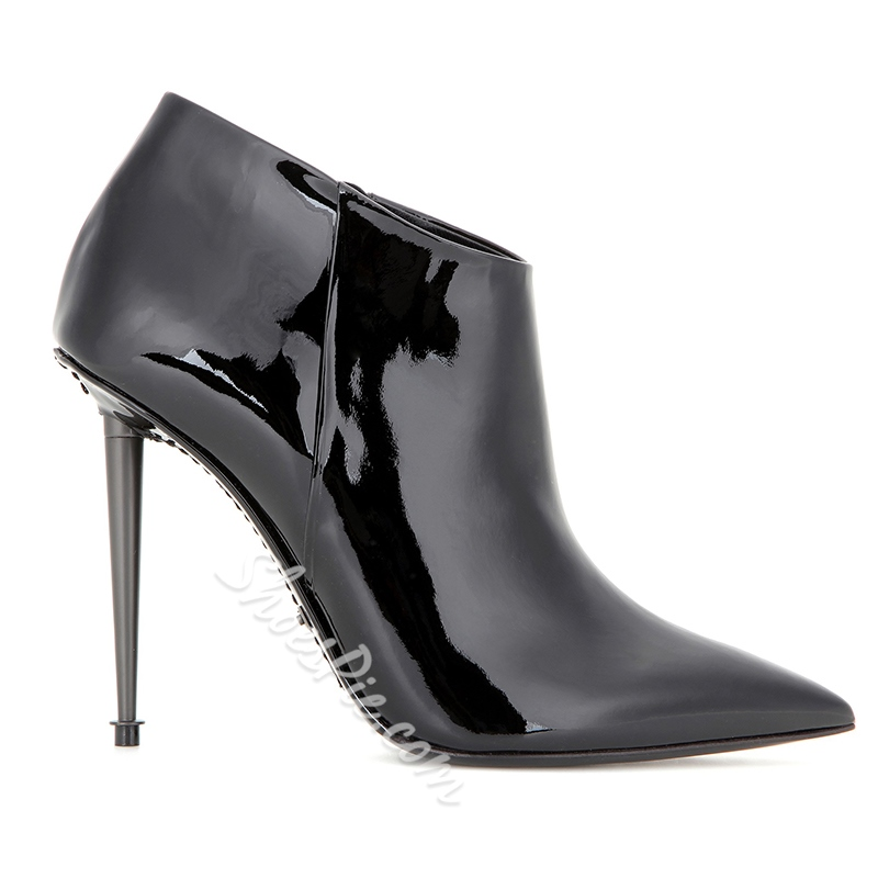 Shoespie Side Zipper Fashion Boots Pointed ToeStiletto Heels