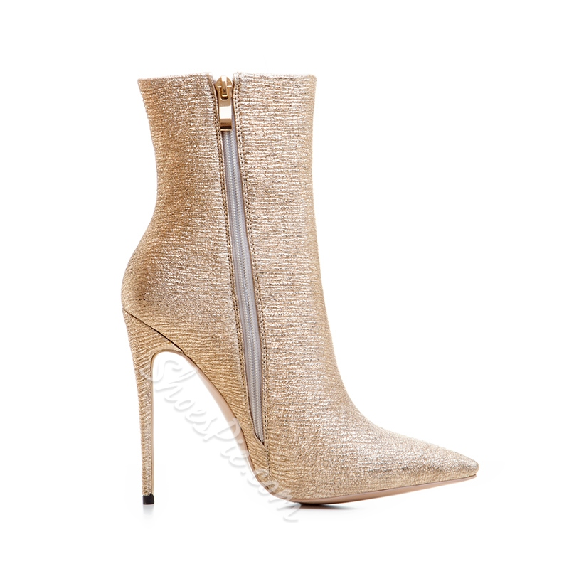 Shoespie Side Zipper Pointed Toe Stiletto Heel Banquet Fashion Boots