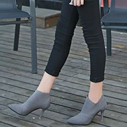Shoespie Pointed Toe Boots Slip-On Stiletto Heel