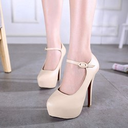 Shoespie Pointed Toe Banquet Platform Stiletto Heel
