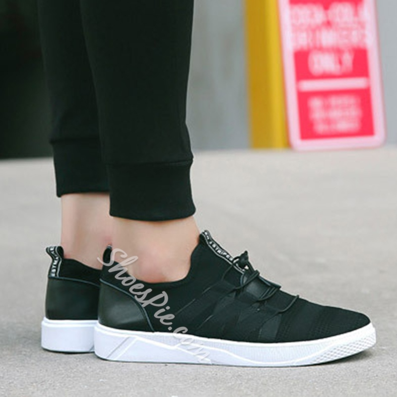 Shoespie Mesh Lace-Up Low-Cut Upper Sneakers