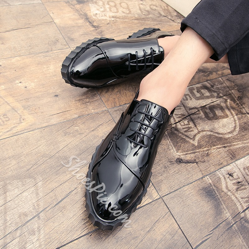 Shoespie Casual Lace-Up Low-Cut Upper Men's Loafers