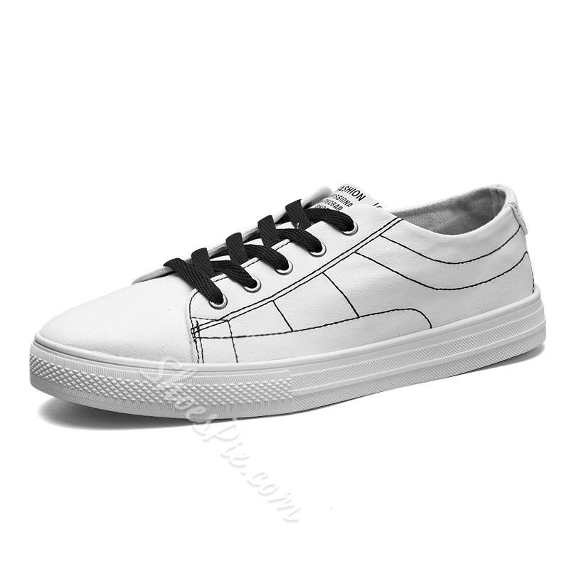 Shoespie Casual Cloth Lace-Up Skate Sneakers Canvas Shoes