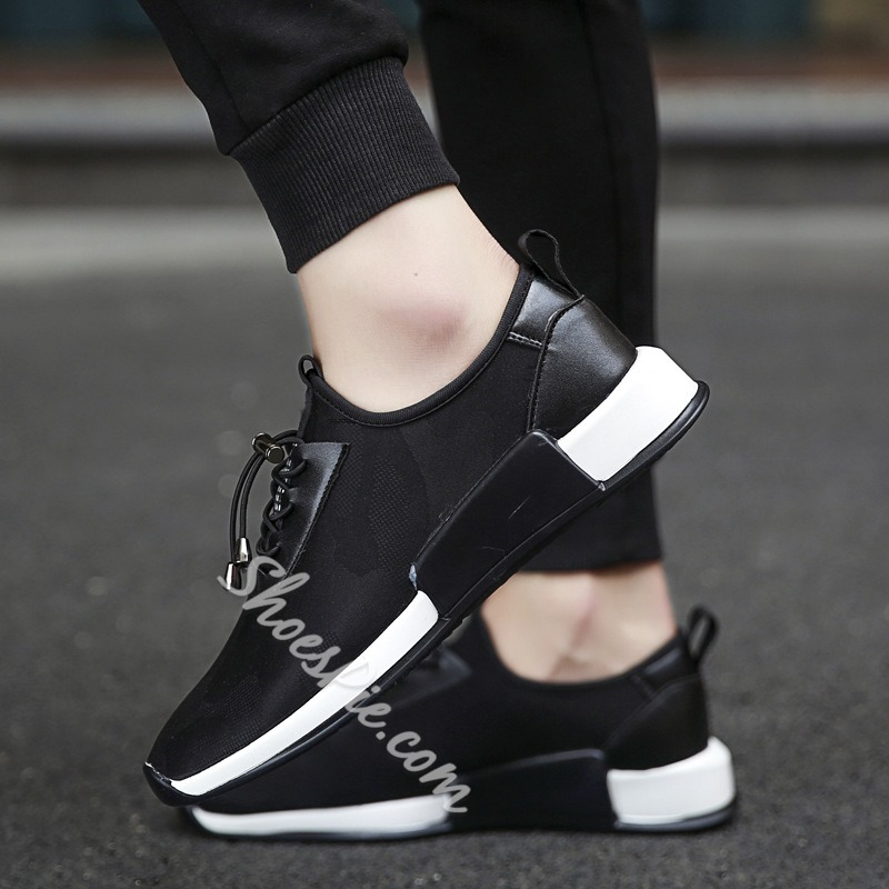 Shoespie Lace-Up Sneaker Low-Cut Upper Athletic Shoes