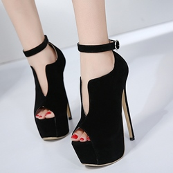 Shoespie Platform Peep Toe Stiletto Heel