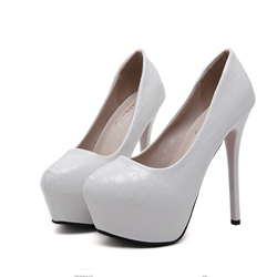 Shoespie Platform Slip-On Banquet Stiletto Heel