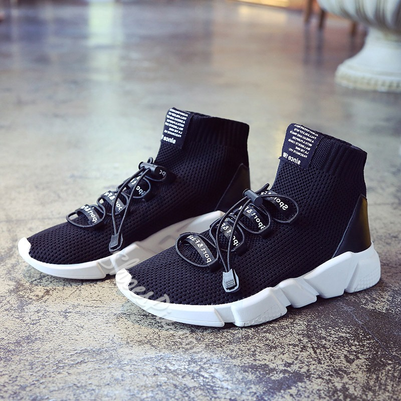 Shoespie Casual Mesh Lace-Up Platform Sneaker