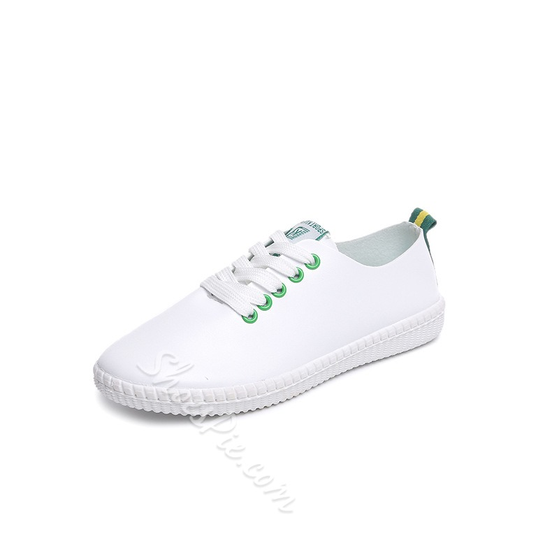 Shoespie Casual Color BlockLace-Up Canvas Shoes