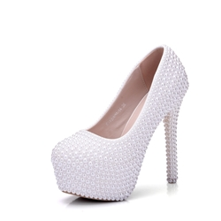 Shoespie Beads Wedding Platform Stiletto Heel