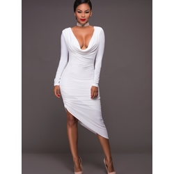 Shoespie Asymmetrical Sexy Long Sleeve Bodycon Dresses
