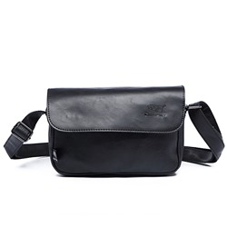 Shoespie PU Patchwork Plain Men's Crossbody Bags