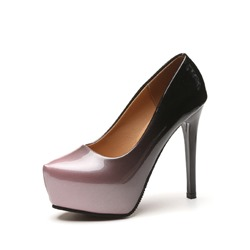 Shoespie Slip-On Gradient Banquet Stiletto Platform Heel