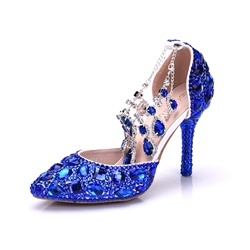 Shoespie Rhinestone Beads Chain WeddingStiletto Heel
