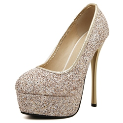 Shoespie Sequin Banquet Platform Stiletto Heel