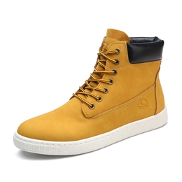Shoespie Casual Round Toe Lace-Up Men's Boots