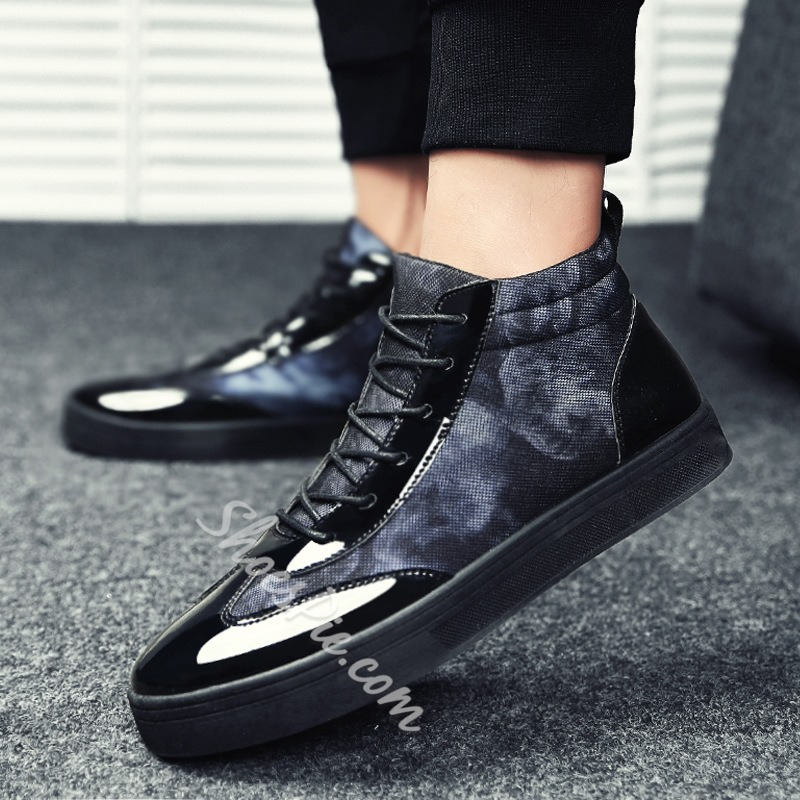 Shoespie Mesh Lace-Up Patchwork Sneaker