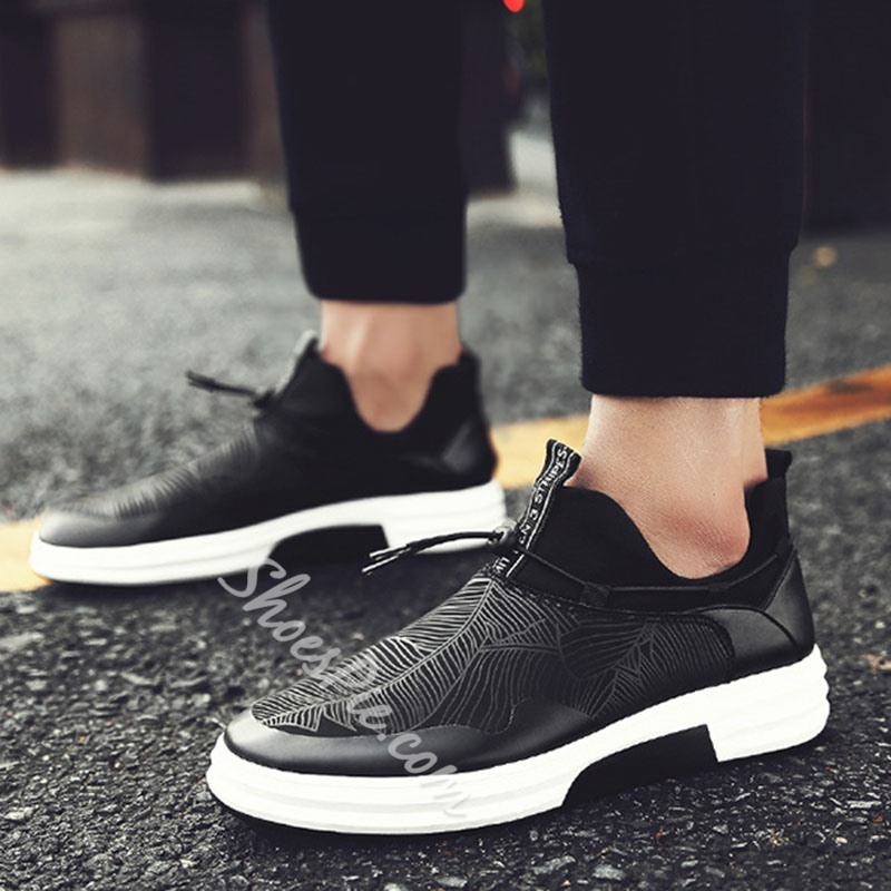 Shoespie Casual Color Block Lace-Up Sneaker