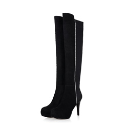 ShoespieSide Zipper Platform Stiletto Heel Knee High Boot