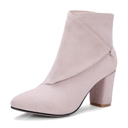 Shoespie Round Toe Chunky Heel Ankle Boot