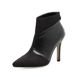 Shoespie Stiletto Heel Back Zip Pointed Toe Ankle Boot