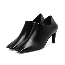 Shoespie Square Toe Slip-On Stiletto Heel Mules Shoes
