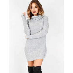 Long Sleeve Patchwork Above Knee Fall Women's Dress
